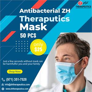 Antibacterial ZH Theraputics Face Mask 50