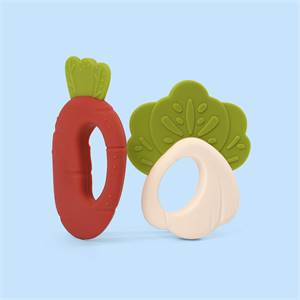 Manufacturer for High Quality OEM Eco-Friendly Non-Toxic Vegetables Shape Silicone Sensory Teether