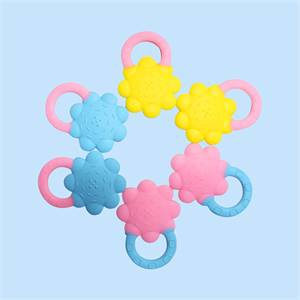 Manufacturer for Flower Shape Food Grade Silicone Baby Teether Cartoon Teething Toy