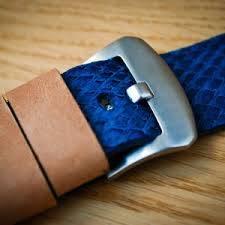Blue salmon Leather Straps | Purple Salmon Leather Straps | Atelierwen