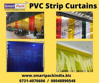 PVC Strip Curtains blue white In Indore