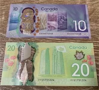 Buy Counterfeit 20 Canadian Dollar Bills