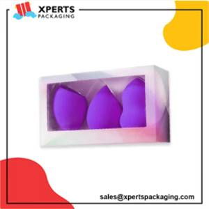 Get Custom Cosmetic Puff Packaging Boxes with logo