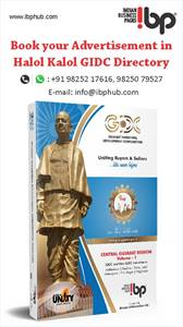 Book your advertisement Now in Halol / kalol GIDC directory