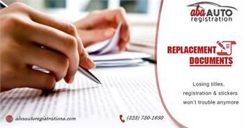 Replacing Lost DMV Documents In LA, California