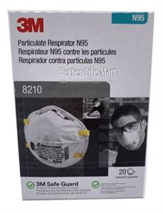 3M 8210 N95 Particulate Respirator, made in USA, 20pcs/box, on sale