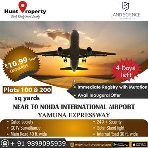 Invest in plots on Yamuna Expressway for High returns in the near Future.