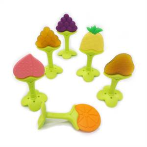 Hot Sale Factory for High Quality BPA Free Custom Shape Colorful Fruit Baby Teething Toys