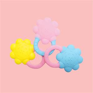 Manufacturer for High Quality Custom Food Grade Bpa Free Teething Chew Toy Silicone Baby Flower