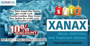 Buy Blue Xanax Bar Online by credit card - Paxiful.com