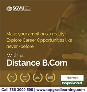 B.Com Distance Education   MCM Academy Admission 2021