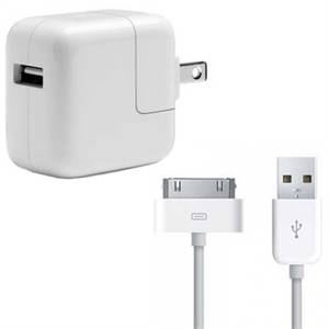 IPAD 30-PIN TO USB CABLE & WALL CHARGER BUNDLE