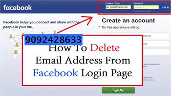 How do I add or Remove an email from my Facebook Account?