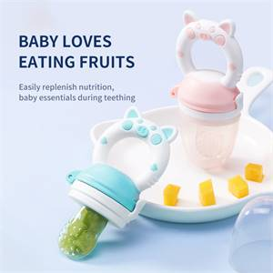 High Quality Vegetable Teether Toy Eco-Friendly Natural Silicone Baby Food Fruit Feeder Manufacturer