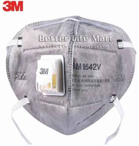 3M 9542V KN95 Particulate Respirator Activated Carbon Face Mask, 20pcs/ box, clearance sale