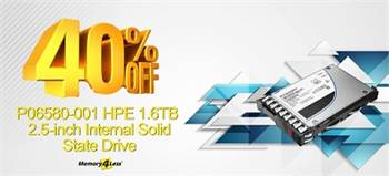 Get 40% OFF on P06580-001 HPE 1.6TB Internal Solid State Drive with Smart Carrier