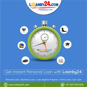 """Get Instant """"Personal Loan"""" with Loanby24."""
