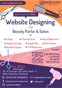Website Design for Beauty Parlor at Rs.9999/-
