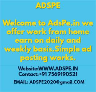Ads posting job and make 2000 weekly  (or)  Real free ads post job for housewives, make 2000 each we