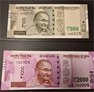Great Place To Buy 500's and 2000's Indian Rupees Money