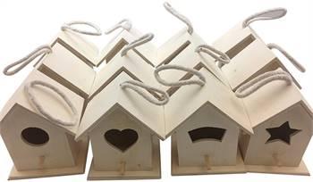 WOODEN BIRDHOUSES 12 BIRD HOUSE BULK (CLASSIC)