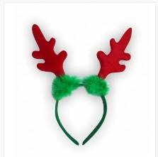 Competitive Price Green Christmas Headband with Red Antlers Supplier