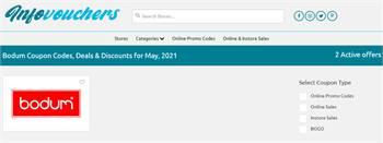 Get Bodum Discount Codes, Promo Codes & Deals By InfoVouchers 2021.