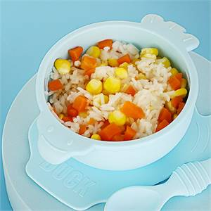 Factory for High Quality Non-Sticking Suction Food Bowl Food Grade Silicon Bowl Baby with Spoon