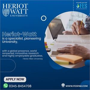 Heriot-Watt University is valued for excellence in teaching and research.
