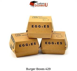 You Can Get custom burger boxes at suitable price in USA