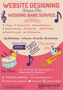 Website design for Wedding Band Service at Rs.9999/-