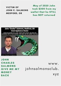 Appliance Fraudulent of  Johnny Snake Salmons