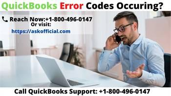 QuickBooks Error Support Number  +1-800-496-0147