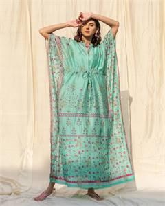 Kaftan Blue Banarasi Dress
