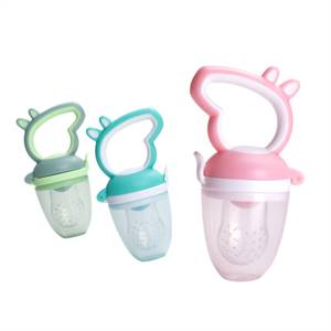 Factory Price BPA Free Silicone Feeding Infant Pacifier Baby Fruit Feeder
