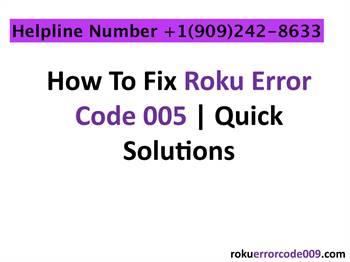 How do I Fix Error Code 005 on Roku?