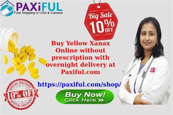 Buy Yellow Xanax Online without prescription with overnight delivery at Paxiful.com