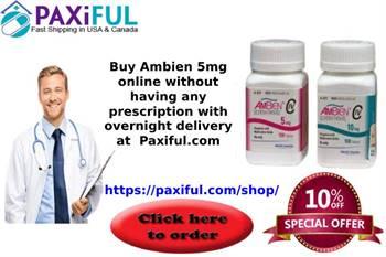 Buy Ambien 5mg Online, Sleeping Disorders treatment -  Paxiful.com