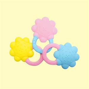 Hot Selling Price High Quality Soft Bpa Free Silicone Flower Teether Sensory Chew Toys Baby Teething