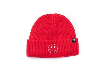 Candy Apple Smiley Beanie