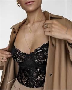 Honeycomb lace bodysuit