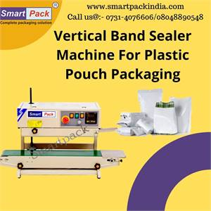 Vertical Band Sealer Machine For Plastic Pouch Packaging