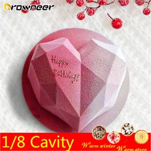 3D Diamond Heart Shape Mould (Large & Small)