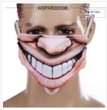 Manufacturer of Daily Funny Protect Big Open Mouth Smile Mask Face Cover Supplier