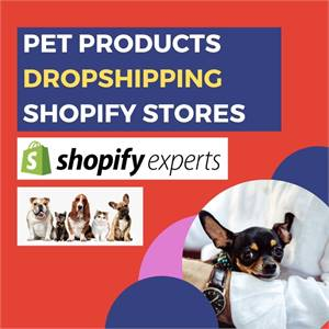 Start with your own pets dropshipping shopify store website