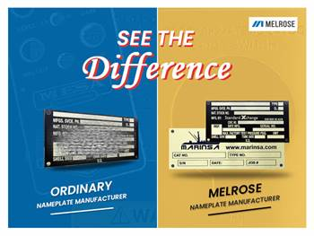 What difference do Melrose Industrial & commercial Nameplates offer you?