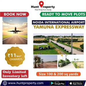 Booking open for plots near Noida International Airport. Contact Hunt Property.